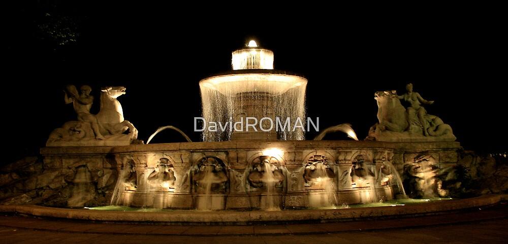 Munich Fountain  by DavidROMAN