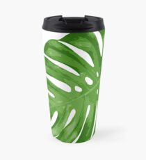 Tropical Monstera Leaf Travel Mug