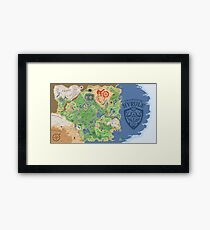 Breath of the Wild Hyrule Map Framed Print