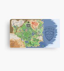 Breath of the Wild Hyrule Map Metal Print
