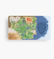 Breath of the Wild Hyrule Map Canvas Print