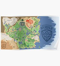 Breath of the Wild Hyrule Map Poster