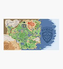 Breath of the Wild Hyrule Map Photographic Print