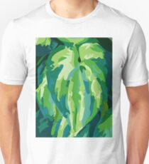 Abstract Green Leaf Unisex T-Shirt