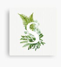 Floral letter S Canvas Print