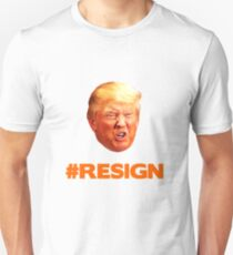 Orange Trump Face #Trumpresign Unisex T-Shirt