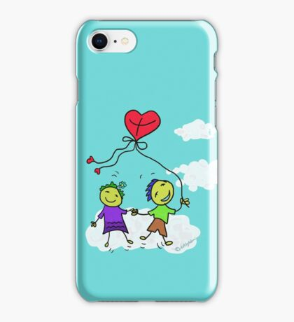 The heart shaped kite iPhone Case/Skin