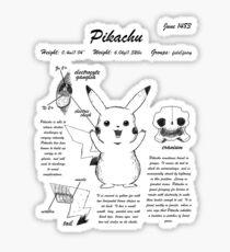 Pikachu anatomy Sticker