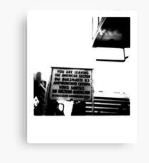 Checkpoint Charlie, Berlin Canvas Print