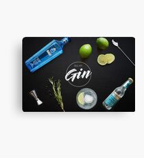 Drink More Gin Canvas Print