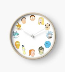 Rick and Morty clock Clock