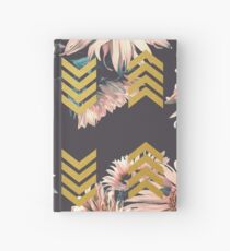 Gold sunflowers Hardcover Journal