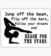 Cute Gymnastics Quote Sticker