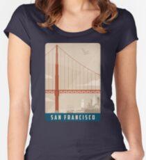 San Francisco Creme Tailliertes Rundhals-Shirt