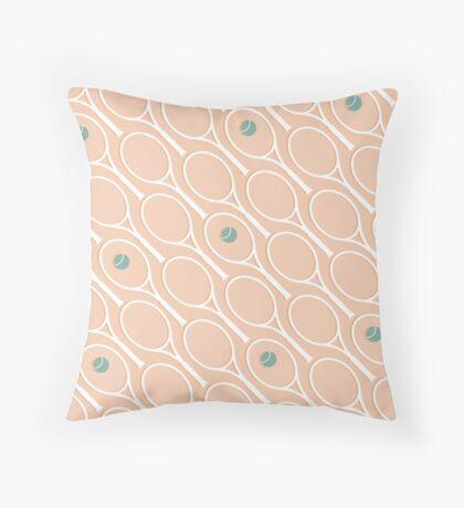 Pink Tennis #redbubble #decor #buyart Throw Pillow