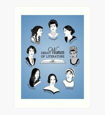 Lámina artística Grandes mujeres de la literatura