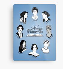 Lienzo metálico Grandes mujeres de la literatura