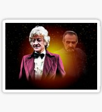 Doctor Who Third Doctor Jon Pertwee and The Master Roger Delgado Sticker