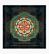Maha Lakshmi (Laxmi) Mantra & Shri Yantra - Wealth Giving Photographic Print