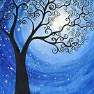 Moonlit Tree by klbailey