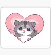 Kawaii Hamster Heart Sticker
