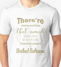 Only one aimed towards peace - the United Nations T-Shirt