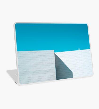 Weißes Gebäude Laptop Folie