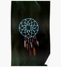 simple dream catcher dark Poster