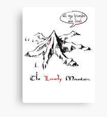 The really lonely mountain Canvas Print