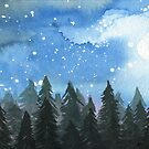 Moonlit Trees #3 by klbailey