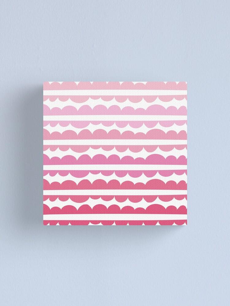 Alternate view of Mordidas Gradient Pink  Canvas Print
