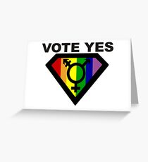 vote Yes !! Greeting Card
