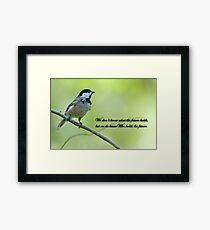 We don't know what the future holds . . . Framed Print