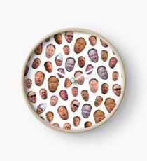 Alex Jones Head Collage Clock