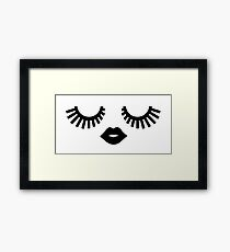 Eyelashes Pattern Framed Print