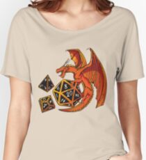 The Dice Dragon - D20, D4, D10, Dungeons & Dragons Women's Relaxed Fit T-Shirt