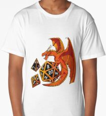 The Dice Dragon - D20, D4, D10, Dungeons & Dragons Long T-Shirt