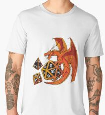 The Dice Dragon - D20, D4, D10, Dungeons & Dragons Men's Premium T-Shirt