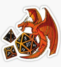 The Dice Dragon - D20, D4, D10, Dungeons & Dragons Sticker