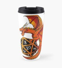 The Dice Dragon - D20, D4, D10, Dungeons & Dragons Travel Mug