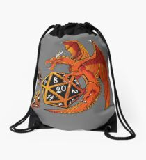 The Dice Dragon - D20, D4, D10, Dungeons & Dragons Drawstring Bag