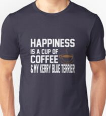 Happiness is Coffee & Kerry Blue Terrier T-Shirt