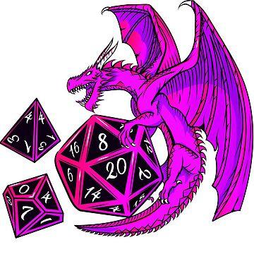 Pink Dice Dragon - d20 d10 d4 by Nocturnalcultur