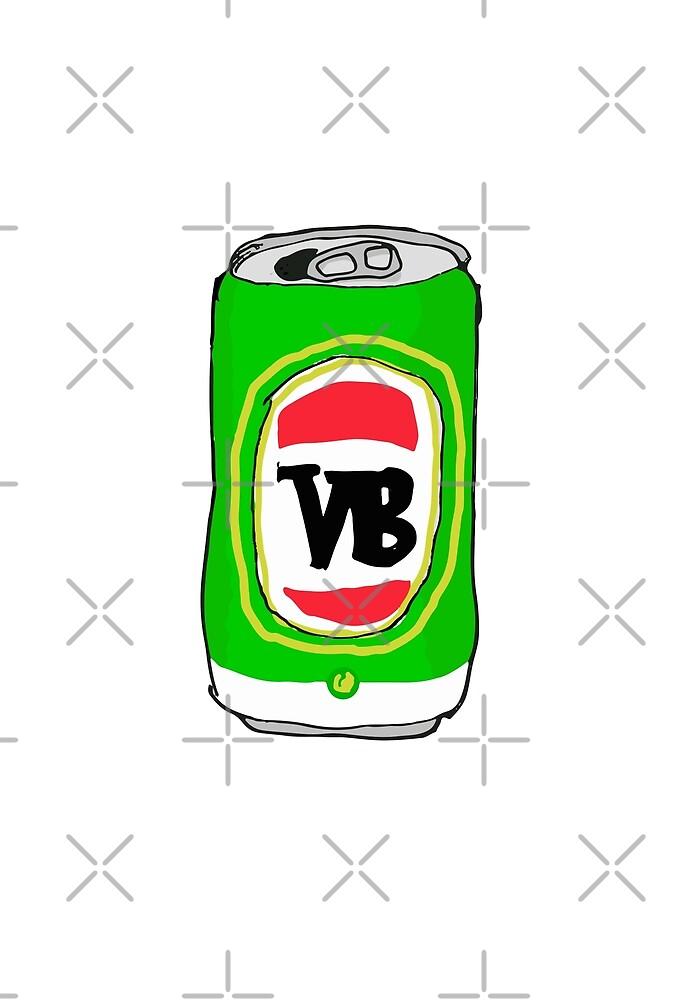 VeeBee Tinnie by Straya Stickers