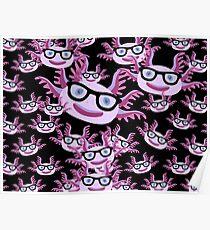 Too Many Nerdy Axolotls Poster