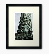 The Column At Vendome - The Base - A Different Perspective © Framed Print