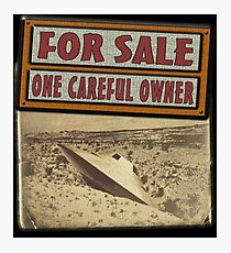 ONE CAREFUL OWNER Photographic Print