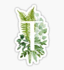 Floral letter T Sticker