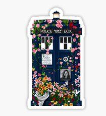 Tardis Clara memorial Sticker