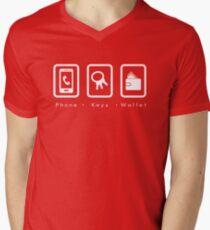 PKW- Phone Keys Wallet Check Men's V-Neck T-Shirt